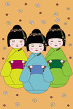 Meninas japonesas ilustração stock