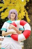 Meninas japonesas novas de Cosplay Fotos de Stock