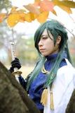 Meninas japonesas novas de Cosplay Imagens de Stock Royalty Free