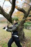Meninas japonesas novas de Cosplay Foto de Stock Royalty Free