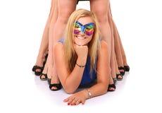 Meninas loucas Fotografia de Stock Royalty Free