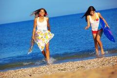 Meninas na água Foto de Stock