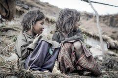 Meninas na passagem de Kuari em Uttarkhand Fotos de Stock
