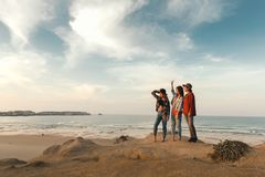 Meninas na praia Foto de Stock