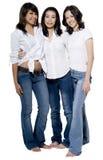 Meninas no branco Imagens de Stock