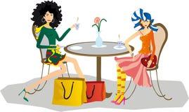 Meninas no café Foto de Stock