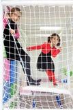 Meninas no campo de jogos Fotografia de Stock Royalty Free