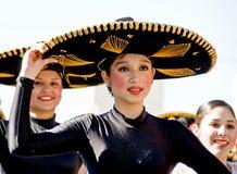 Meninas no chapéu de cowboy Fotos de Stock