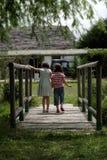 Meninas no lago Imagem de Stock Royalty Free