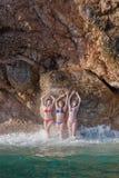 Meninas no mar Imagem de Stock Royalty Free
