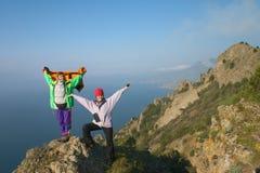 Meninas no pico Fotos de Stock Royalty Free