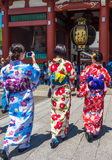 Meninas no quimono tradicional imagens de stock royalty free