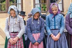 Meninas punidas - espetáculo Foto de Stock Royalty Free