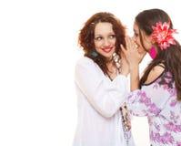 Meninas que dizem segredos Fotografia de Stock