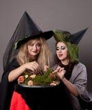 Meninas que jantam cogumelos Foto de Stock Royalty Free