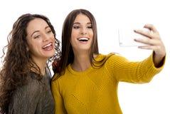 Meninas que tomam o selfie imagens de stock