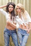 Meninas rebelde Imagens de Stock Royalty Free