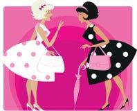 Meninas retros Imagens de Stock