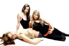 Meninas 'sexy' bonitas foto de stock royalty free
