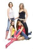 Meninas 'sexy' bonitas Fotografia de Stock