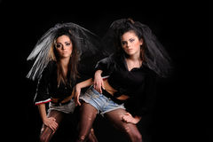 Meninas 'sexy' bonitas Imagem de Stock Royalty Free