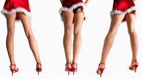 Meninas 'sexy' de Santa Imagem de Stock Royalty Free