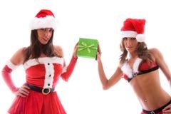 Meninas 'sexy' de Santa. Imagem de Stock