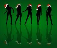 Meninas 'sexy' do Natal Fotografia de Stock