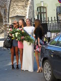 Meninas 'sexy' em Tallinn, Estônia Foto de Stock Royalty Free