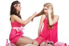 Meninas 'sexy' na cor-de-rosa Foto de Stock