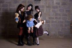 Meninas sombrios Fotografia de Stock Royalty Free