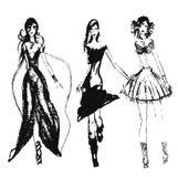 Meninas tiradas mão da forma Imagem de Stock Royalty Free