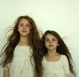 Meninas tristes Fotografia de Stock