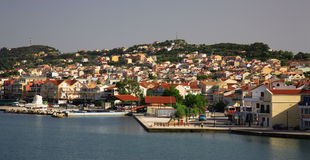 Mening aan Argostoli Kefalonia royalty-vrije stock foto