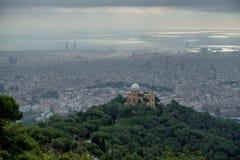Mening aan Barcelona stock afbeeldingen