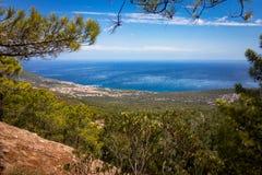 Mening aan Cala Gonone, Sardinige, Italië stock afbeelding