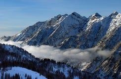 Mening aan de Bergen van Snowbird skitoevlucht in Utah, de V.S. Stock Foto