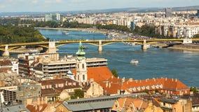 Mening aan de Buda-kant van het historische centrum van Boedapest Royalty-vrije Stock Afbeeldingen