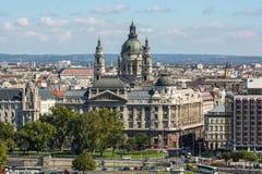 Mening aan de Buda-kant van het historische centrum van Boedapest Royalty-vrije Stock Foto