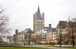 Mening aan de kerk in Keulen Royalty-vrije Stock Fotografie