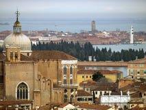 Mening aan de lagune van Venetië stock foto's