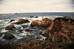 Mening aan de oceaan Royalty-vrije Stock Foto
