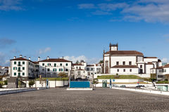 Mening aan de stad van Ponta Delgada Stock Fotografie