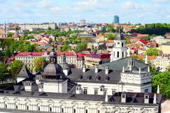 Mening aan de Vilnius-stad van Gediminas-kasteelheuvel royalty-vrije stock foto