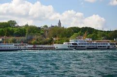 Mening aan de zeekust van de Prins Islands Frerryboot Turkije royalty-vrije stock foto