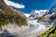 Mening aan Franse Alpen, Mer DE Glace Royalty-vrije Stock Fotografie