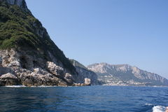 Mening aan het Eiland Capri Stock Foto