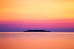 Mening aan het eiland van Heilige Ivan bij zonsopgang, Bulgarije Stock Afbeeldingen