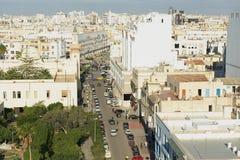 Mening aan het historische stadscentrum van Sfax in Sfax, Tunesië Royalty-vrije Stock Foto's