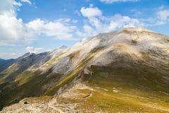 Mening aan het marmeren deel van Pirin-berg, Bulgarije Stock Foto